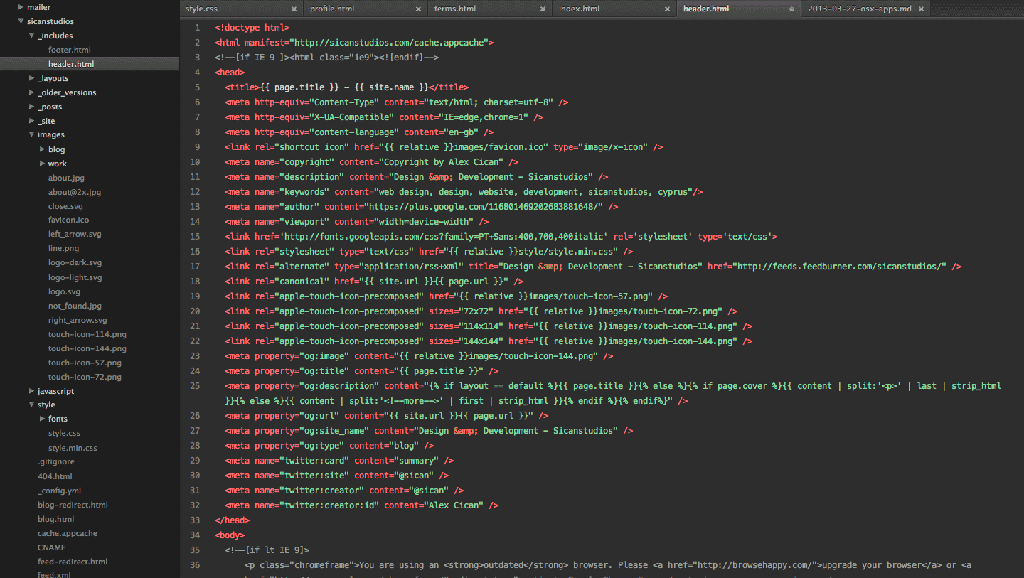 sublime text theme