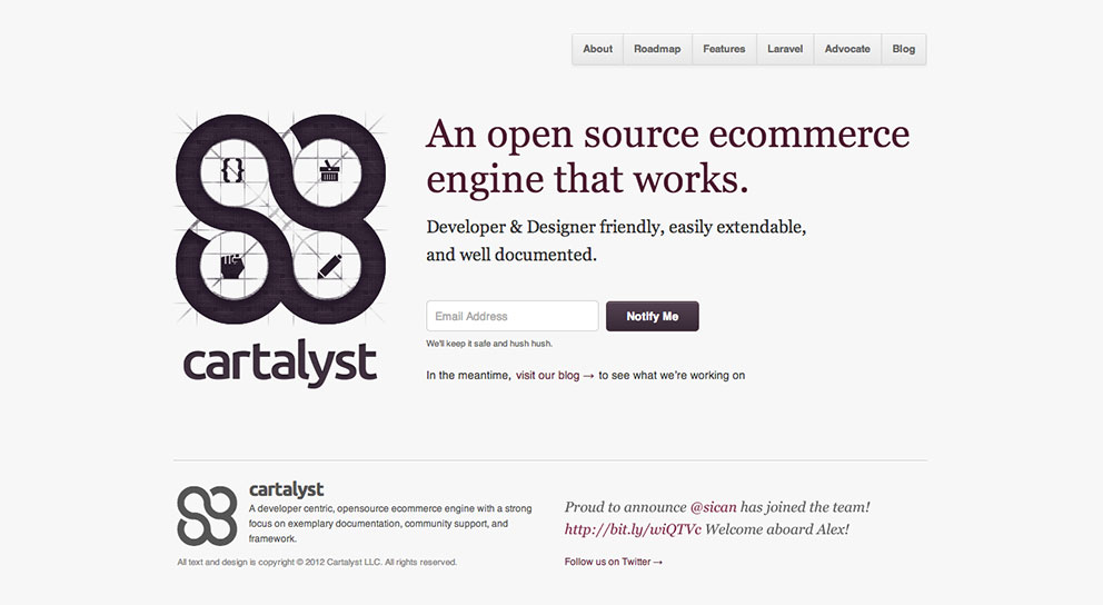 Cartalyst homepage