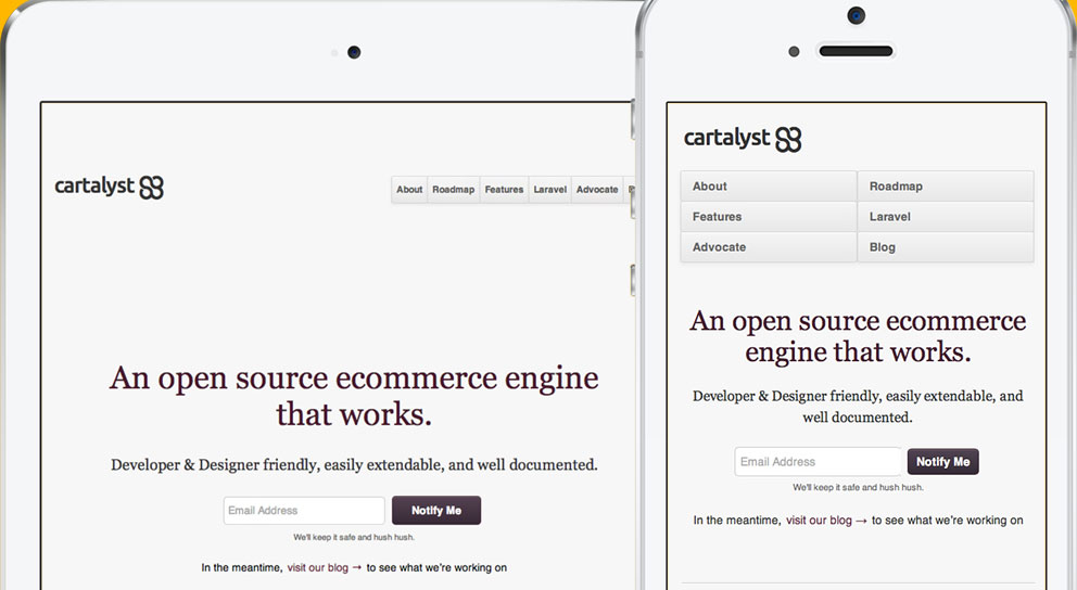 Cartalyst responsive website